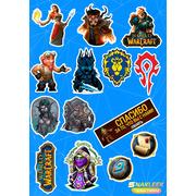"Набор наклеек ""World of Warcraft"""